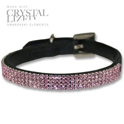 Hvalpe halsbånd med ægte krystaller