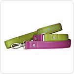 Line i farverig design. Pink og limegrøn